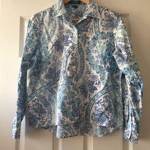 👗 Ralph Lauren Petite Paisley Print Shirt